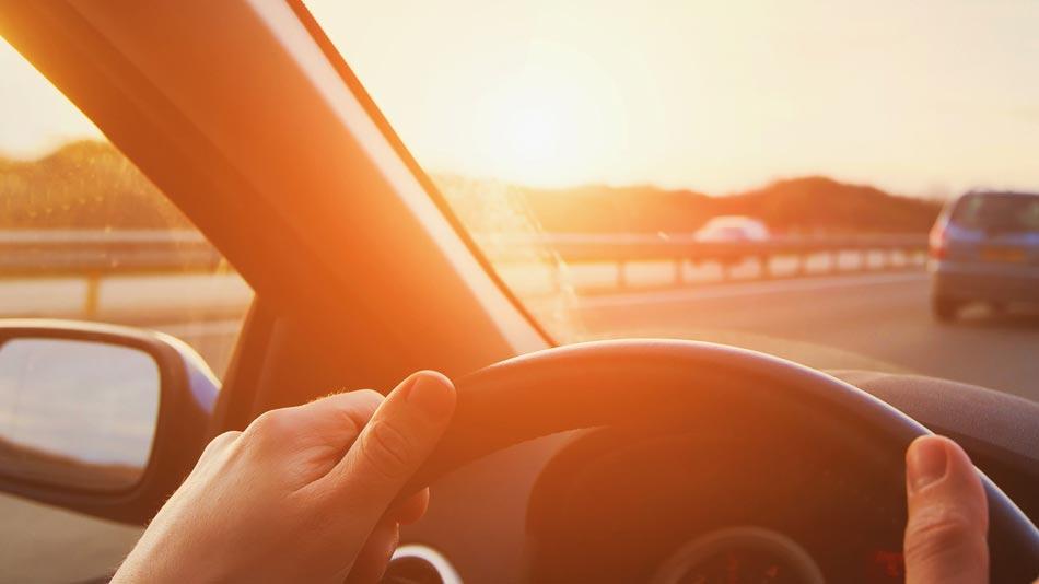 driving risks sun glare